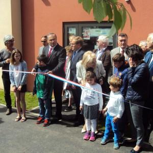 Inauguration du nouveau bâtiment de l'école du Breuil en Auge